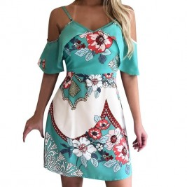 Casual dress with floral...