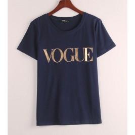Golden Vogue Letter Print T...
