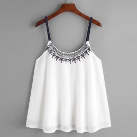 Cute low-cut sleeveless...
