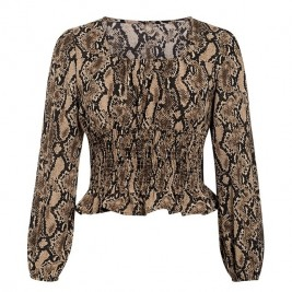 Blouses with snake print...