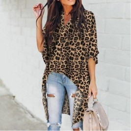 Leopard blouse for women.