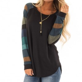 Female T-Shirt Women Stripe...