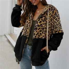 Leopard Women Hoodies Thick...