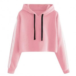 Hooded Solid Lace Up...
